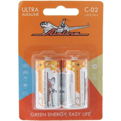 Батарейка 1,5V/C/LR14 Airline C-02 (2 шт.)