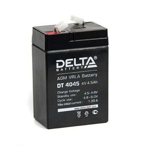 """Аккумулятор DELTA DT 4045 """"47 мм"""" (4В, 4500 мАч)"""