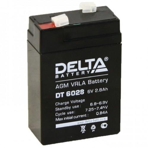 Аккумулятор DELTA DT 6028 (6В, 2800мАч)