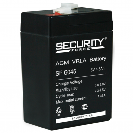 Аккумулятор Security Force SF 6045 (6В, 4500мАч)