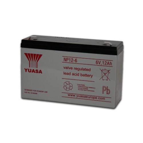 Аккумулятор Yuasa NP 12-6 (6В, 12000 мАч)