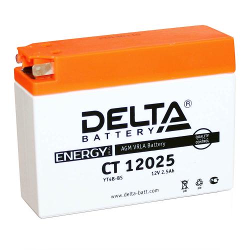 Аккумулятор (moto) DELTA CT 12025 (12В, 2500мАч)