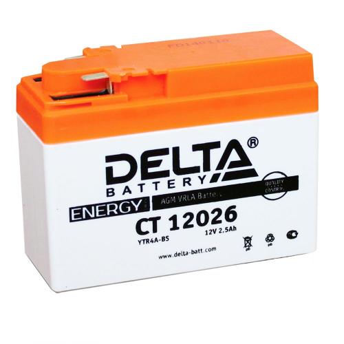 Аккумулятор (moto) DELTA CT 12026 (12В, 2500мАч)