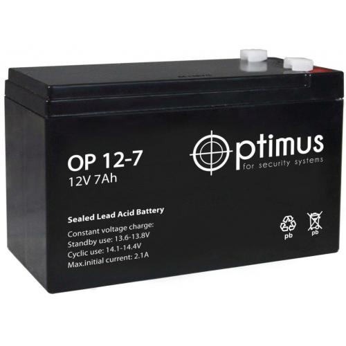 Аккумулятор  Optimus OP 12-7 (12В, 7000мАч)
