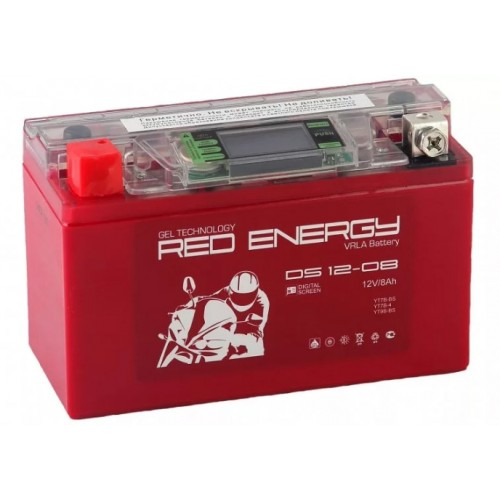 Аккумулятор RED ENERGY DS 12-08 (12В, 8000мАч)