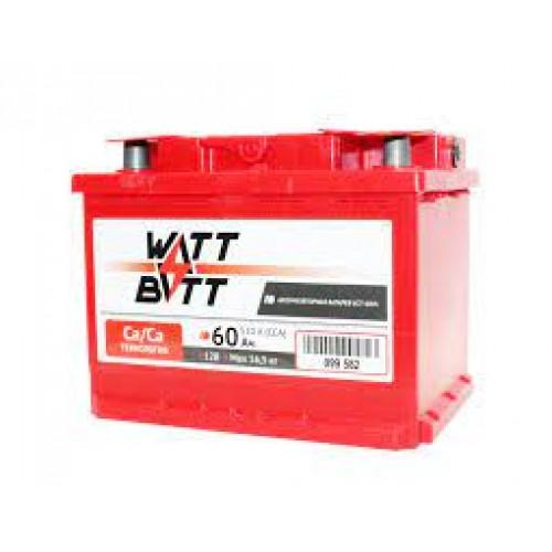 Аккумулятор WATTBATT 60Ah/510 прав+