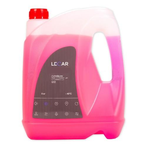 Антифриз LECAR (-40) красный G12  5 кг