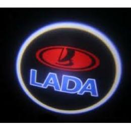 """Подсветка в дверь с логотипом """"Лада"""""""