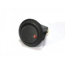 ВК клавиша ON-OFF 12V - 16A красный индикатор ( 1 шт. )