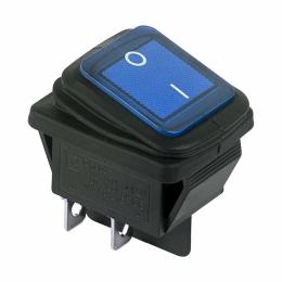 ВК клавиша ON-OFF, (2-x поз.) Rexant 250В-15А с синей подсветкой, влагозащищенная