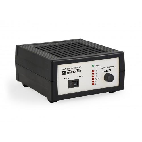 Зарядное устройство Вымпел-320 Регулировка тока в диапазоне 0,8-20А