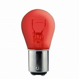 Лампа накаливания KRAFT 12V P21/5W BAY15d (красная)