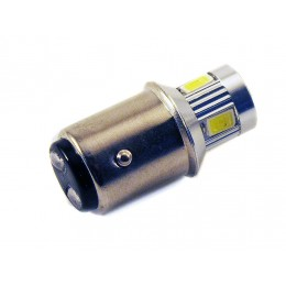Светодиодная лампа P21/5W (BA15D-1157) 6SMD (5630) LENS WHITE