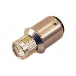 Светодиодная лампа P21W (BA15S-1156) 6SMD (5630) LENS YELLOW