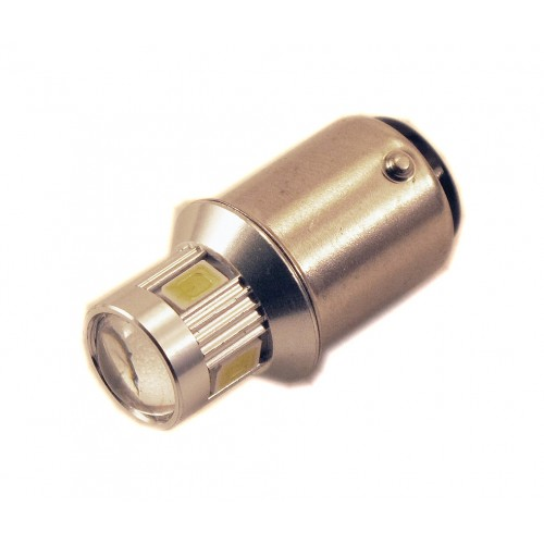 Светодиодная лампа P21/5W (BA15S-1156) 6SMD (5630) LENS YELLOW