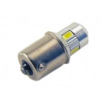 Светодиодная лампа P21W (BA15S-1156) 6SMD (5630) LENS WHITE
