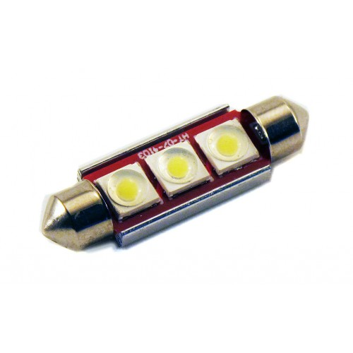 Светодиодная лампа C5W (41 ММ) 3SMD (COB) CAN BUS WHITE