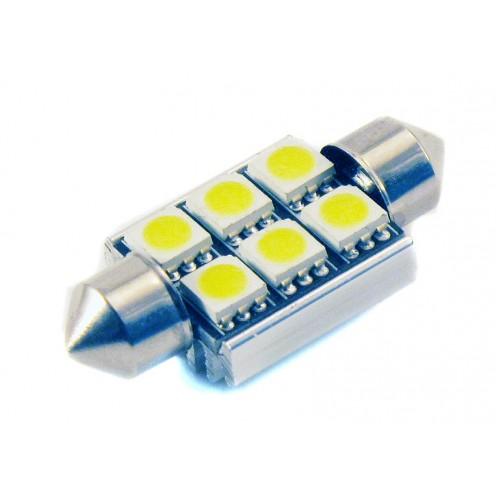 Светодиодная лампа C5W (39 ММ) 6SMD (5050) CAN BUS WHITE
