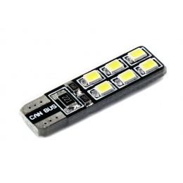 Светодиодная лампа W5W (T10) 12SMD (2835) CAN BUS WHITE