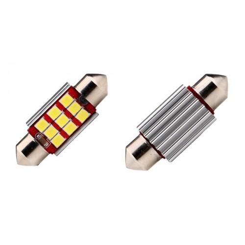 Светодиодная лампа C5W (39 ММ) 9SMD (2835) CAN BUS WHITE