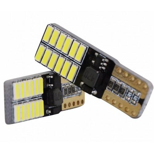 Светодиодная лампа W5W (T10) 24SMD (2835) CAN BUS WHITE
