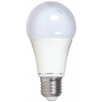 Лампа A60, E27, 9W, теплый/холодный свет, ал.-пл.