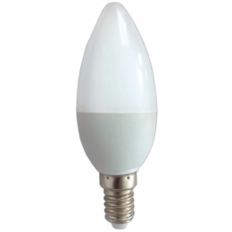 Лампа C37, E14, 3W, теплый/холодный свет