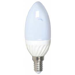 Лампа C37, E14, 4W, теплый/холодный свет