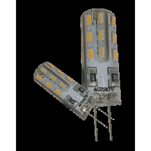 Светодиодная лампа Вымпел G4 220В, теплый/белый свет