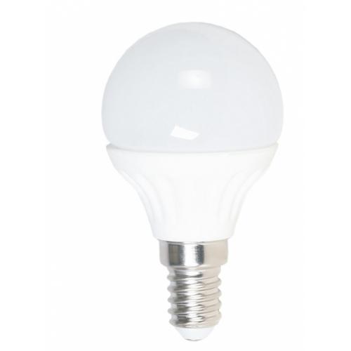 Лампа G45, E14, 6W, теплый/белый свет