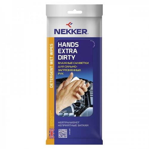 Салфетки влажные для рук NEKKER (30 шт.)